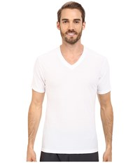 Exofficio Give N Go V Neck White Men's Short Sleeve Pullover
