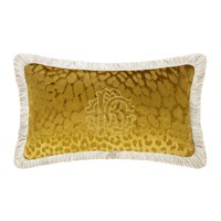 Roberto Cavalli Monogram Cushion Gold