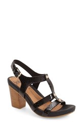 Women's Sofft 'Deidra' Sandal Black Snake Print Leather