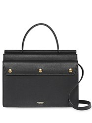 Burberry Small Title Bag With Pocket Detail Black