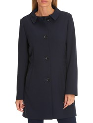 Betty Barclay Crepe Coat Navy Blue