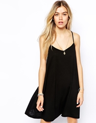 Asos Strappy Cami Swing Dress Black