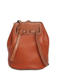 Loewe Lazo Bucket Leather Shoulder Bag Rust