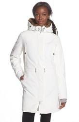 Women's Helly Hansen 'Luna' Waterproof Faux Fur Hood Parka Offwhite
