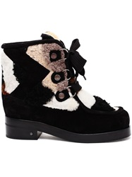 Laurence Dacade Fur Patchwork Boots Black