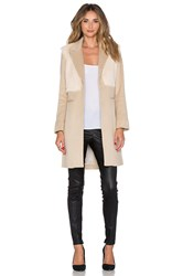 Mason By Michelle Mason Goat Fur Coat Tan