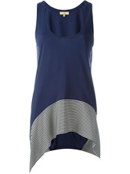 Fay Striped Hem Tank Top Blue