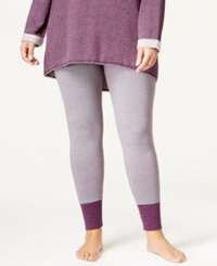 Alfani Plus Size Feeder Stripe Leggings Plum Stripe