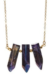Leila Triple Bullet Crystal Necklace No Color