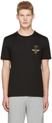 Dolce And Gabbana Black Crown Bee T Shirt