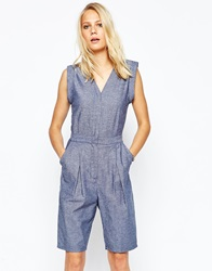 2Nd Day Jumpsuit In Chambray Blue
