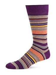 Saks Fifth Avenue Jasper Thin Striped Socks Purple
