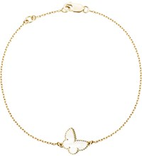 Van Cleef And Arpels Sweet Alhambra Gold Mother Of Pearl Bracelet Yellow Gold
