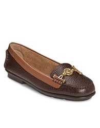 Aerosoles Nuwlywed Leather Loafers Dark Brown