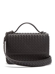 Bottega Veneta Intrecciato Woven Leather Satchel Black