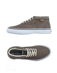 Sperry Top Sider Footwear High Tops And Trainers Men Khaki