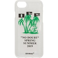 Off White Transparent And Green 'Off Island' Iphone 8 Case