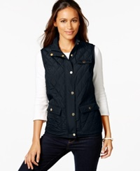 Charter Club Quilted 3 Pocket Vest Only At Macy's Deepest Navy
