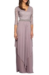 Alex Evenings Women's Embellished Lace And Chiffon Gown