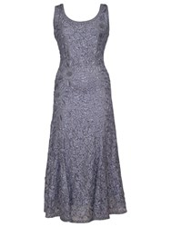 Chesca Lace Cornelli Embroidered Dress Steel