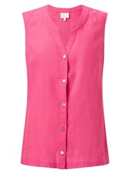East Linen Sleeveless Shirt Pink