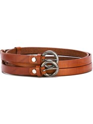 Al Duca Da Aosta 1902 Double Strap Belt Brown