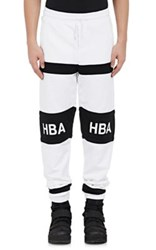 Hood By Air Men's Logo Jogger Pants Black White Black White
