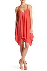 Jack Domani Handkerchief Trapeze Dress Pink