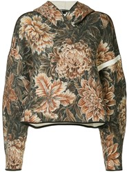 Y 3 Camouflage Print Oversized Hoodie Multicolour