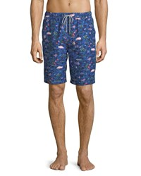 Peter Millar Hawaiian Express Swim Trunks Navy