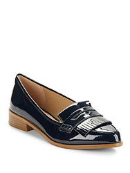 Saks Fifth Avenue Slip On Penny Loafers Petrol Navy
