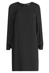 Barbara Bui Long Sleeve Silk Dress Black