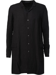 The Viridi Anne The Viridi Anne Side Pocket Long Shirt Black