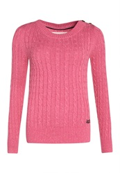 Superdry New Croyde Cable Crew Neck Jumper Pink
