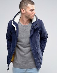 Penfield Hosston Insulated Parka Borg Lined Hood Navy