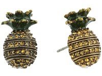 Marc Jacobs Charms Tropical Pineapple Studs Earrings Yellow Multi