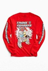 Urban Outfitters Transformers Grimlock Long Sleeve Tee Red