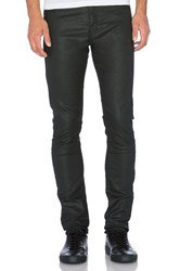 The Kooples Fit Cut Leather Effect Jeans Black
