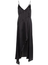 Le Kasha Niya Asymmetric Slip Dress Black