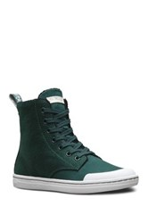 Dr. Martens Hackney Faux Shearling Lined High Top Sneaker Green
