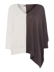 Crea Concept Two Colour Jumper Charcoal