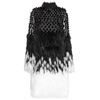 Alexander Mcqueen Silk And Fur Dress Black