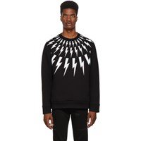 Neil Barrett Black Lightning Bolt Sweatshirt
