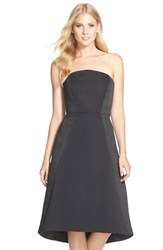 Women's Halston Heritage Strapless Satin Fit And Flare Dress