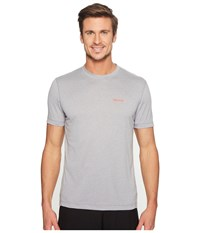 Marmot Conveyor S S Tee Grey Storm Heather Men's T Shirt Gray