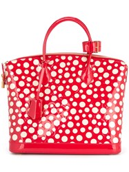 Louis Vuitton Vintage Vernis Lockit Tote Red
