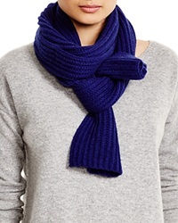 C By Bloomingdale's Ribbed Cashmere Scarf Midnight