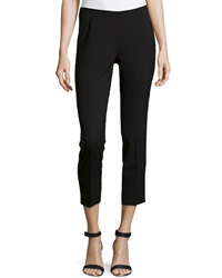 Lafayette 148 New York Wool Blend Cropped Pants Navy