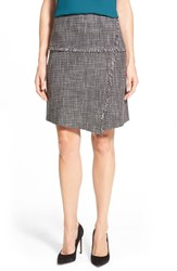 Women's Halogen Fringe Detail Tweed A Line Skirt Grey Tweed