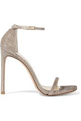 Stuart Weitzman Nudist Metallic Mesh Sandals